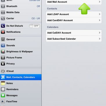 E Mail Setup for Apple